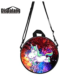 HITSAN INCORPORATION Dispalang Round Messenger Bag for Lady Female Handbag  for Student Women s Double Shoulder Crossbody Bags… 961fd27a83
