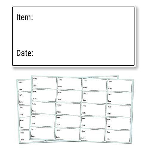 5 x 2,5cm, 500 Stück, Ablösbare Gefrierschrank Etiketten Lebensmittel Kühlschrank Lagerung Datum, Keine Klebereste