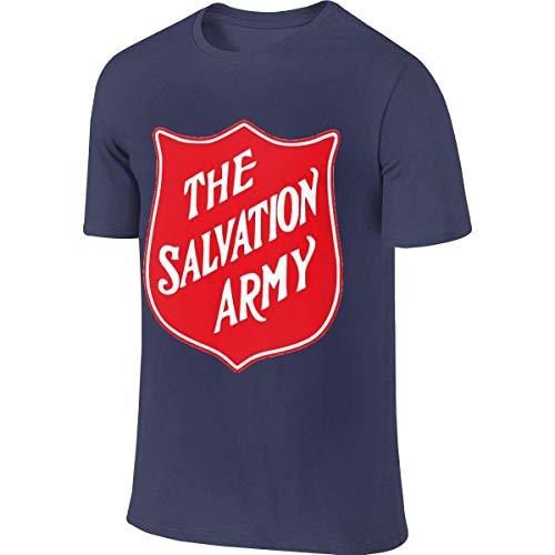 Herren The Army Salvation Christian T-Shirt Tshirt Sommer Kurzarm Rundhals Tee Shirts Baumwolle Sport Tops Für Herren Navy L -