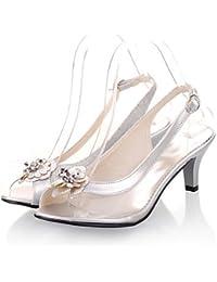 RTRY Zapatos De Mujer Cono Transparente Talón Slingback Peep Toe / Sandalias / Fiesta Boda &Amp; Por La Noche / Vestido Negro / Plata / Oro Plata Us9 / Ue40 / Uk7 / Cn41