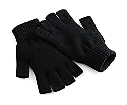 Fingerlose HandschuheBündchen aus Ripp-StrickAm Stück gestricktSoft-Touch AcrylLieferung ohne Inhalt / Deko