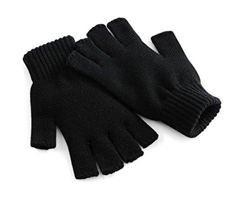 Beechfield Unisex Winter-Handschuhe, fingerlos Large / X-Large,Schwarz
