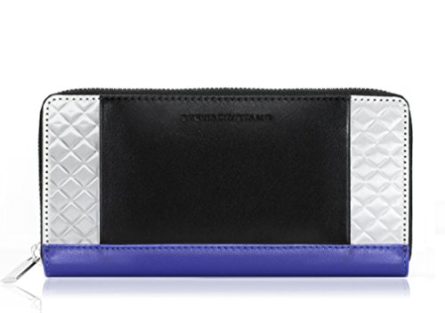 damen-geldborse-mreissverschluss-leder-kobalt-schwarz-silber-zipper-wallet-cobalt-black