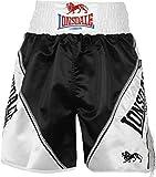 Lonsdale Erwachsene Boxing Hose Pro Lüftungs schwarz/Weiß XXL