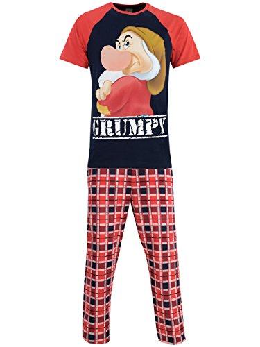 Disney Brummbär Herren Grumpy Schlafanzug XL, rot/kariert