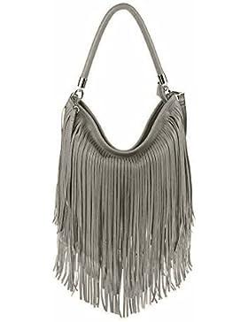 ital-design Damen Tasche Fransen