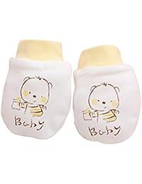 zhouba 2pares Cute Cartoon para bebé Niños Niñas anti arañazos manoplas guantes de suave Recién Nacido Regalo