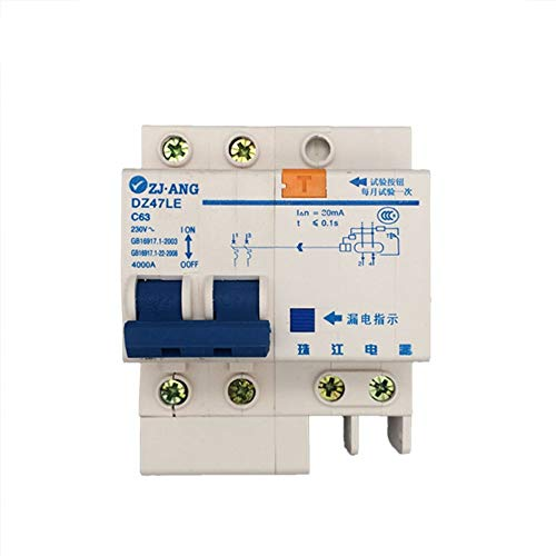xiadsk Air Switch with Leakage Protector Switch Household Main Switch Circuit Breaker 2P, 80A - Main Breaker