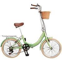 DaFatCat Bicicleta Plegable de Diseño Dorothy 1939, 6 velocidades Shimano,