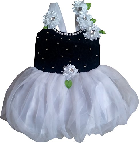 Cute Fashion Kids Baby Girls Dress Princess Velvet Party Wear Frock Dresses Clothes for 3 Months to 8 Years (Black, 3-6 Months)