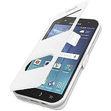 SAVFY Housse étui LG G5Blanc Livre Case Wallet Étui magnétique étui + film de protection d'écran Film blindé Q1® Produit de marque