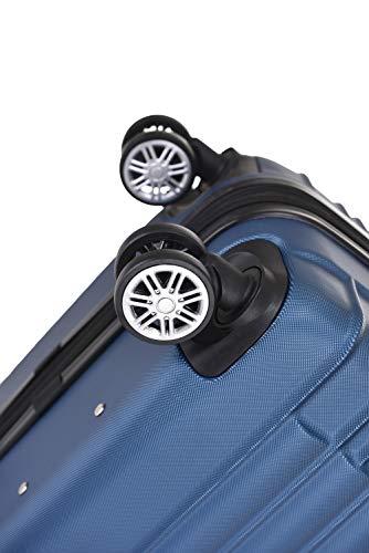 BEIBYE 2088 Zwillingsrollen Reisekoffer Koffer Trolleys Hartschale M-L-XL-Set in 13 Farben (Blau, M) - 8