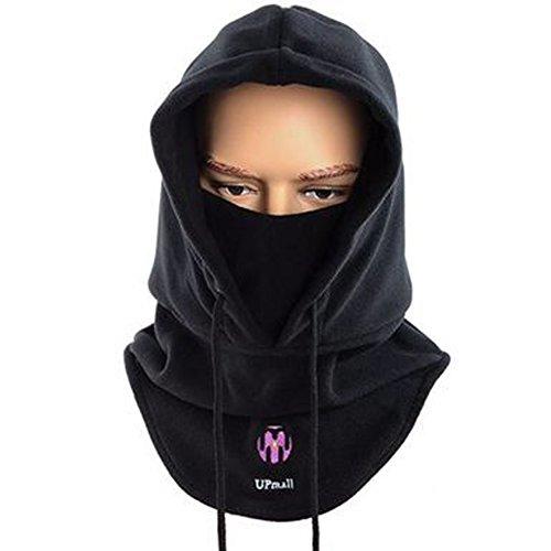 Taktische Balaclava Vollmaske Fleece Warme Winter Outdoor-Sport-Maske Wind-resistente Haube Hut - (Face Full Maske Black)