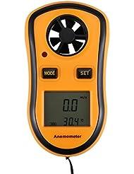 LCD Digitale Anemometer Handheld High-Accuracy Windmesser - Anemometer Messunsicherheit Tragbar Windmessgerät
