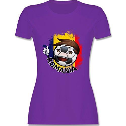 EM 2016 - Frankreich - Fußballjunge Rumänien - tailliertes Premium T-Shirt  mit Rundhalsausschnitt für