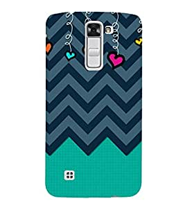 Wired Love Chevron 3D Hard Polycarbonate Designer Back Case Cover for LG K10 4G Dual
