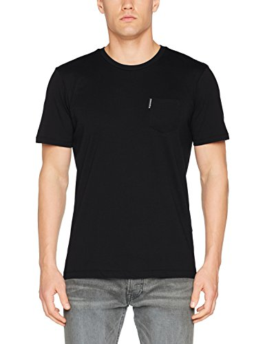 Ben Sherman Herren T-Shirt the Plain Pocket Crew Tee, Schwarz (True Black 290), Medium (Schwarz Tee Crew)