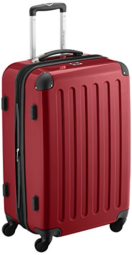 HAUPTSTADTKOFFER - Alex - Bagage Rigide Valise Moyenne, Trolley avec 4 Roues multidirectionnelles, 65 cm, 74 litres, Rouge