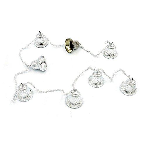 Gespout - Boules décoratives pour arbre de Noël en forme de cloches - Décorations de fête, Plastique, Silver, Taille unique