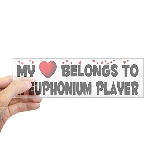 "CafePress ""Belongs to A Euphonium Player Aufkleber Standard farblos"