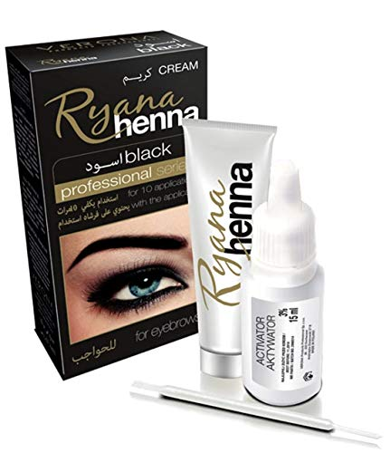 Ryana Profi Augenbrauen Wimpern Eyebrow Lash Farbe Henna Augenbrauenfarbe Wimpernfarbe Schwarz...
