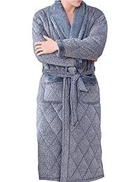 b5ce5b3ad4f2c Winter Herren Langarm-Nachthemd Bademantel Große Yards Dick Wattierte Schlafanzug  Home Service