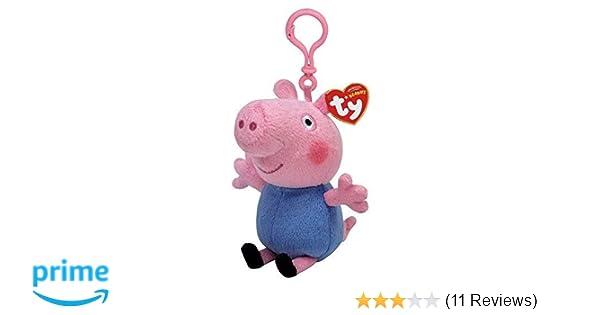 Ty Beanie Peppa Pig - George Keyclip Keychain  Amazon.co.uk  Toys   Games 68db34f2b67b