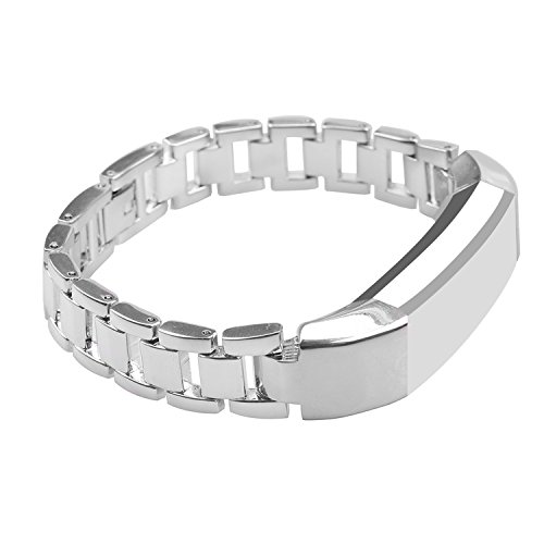 mtsugar Newest Premium Stainless Steel Replacement Accessory Metal Watch Bands Bracelet Strap for Fitbit Alta Only(No tracker, Replacement Bands Only) (Silver)