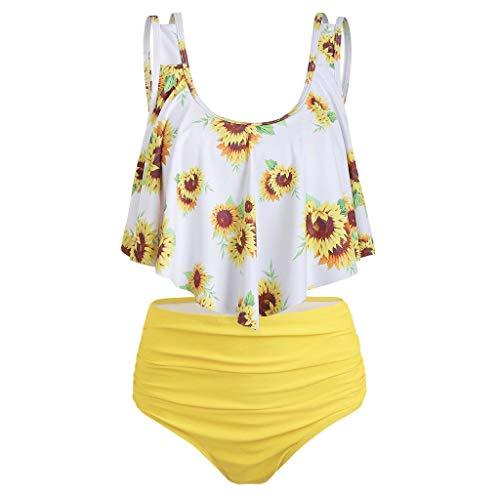 Mymyguoe Bikini de Gran tamaño y Estampado de Girasol, Bikinis...