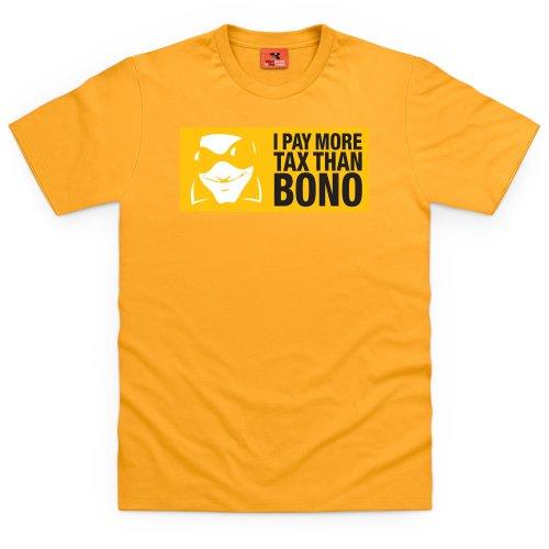 Square Mile Bono T-Shirt, Herren Gelb