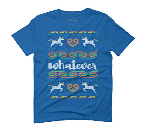 Whatever Men's Graphic T-Shirt - Design By Humans Royal Blue