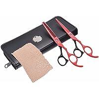 KING DO WAY Hair Salon Professionale di Taglio + Sfoltire le Forbici del Barbiere Cesoie Parrucchiere Set 6.7 pollici - Lama Lubrificante