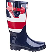 Lambretta Mens Pheonix Union Jack Long Wellington Boots Wellies