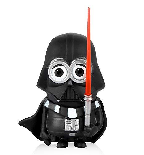 Moocevill - Auto Dekoration Cosplay Puppen für Star Wars Kreative Verzierungen Schwarz Weiß Schwert Helden Spielzeug-Auto-Innen Zubehör [Schwarz] (Weißen Verzierungen Und Schwarzen)