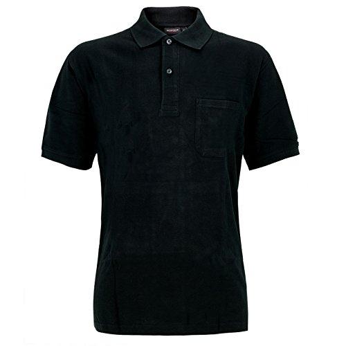 Große Größen - Redfield Herren Poloshirt in Übergröße Schwarz