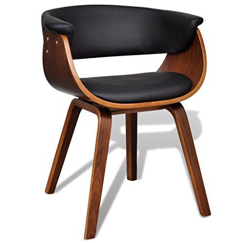 vidaXL Moderner Lehnstuhl aus Kunstleder und Holz