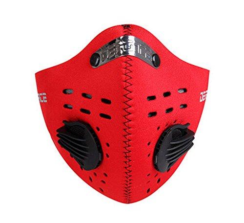Tendance de ski Vélo Moto coupe-vent anti-poussière et demi masque visage rouge