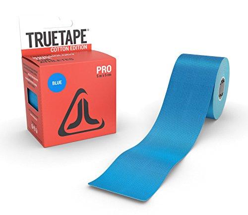 TRUETAPE Cotton Edition Pro | Kinesiologie Tape | 5m x 5cm | ungeschnitten | Kinesiotape | hautverträglich | CE-Zertifiziert | Blau