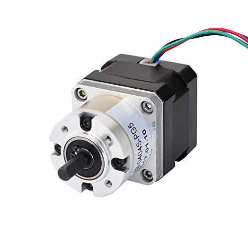 STEPPERONLINE Nema 17 Getriebemotor 5:1 Planetengetriebe Getriebe 0,4A CNC Schrittmotor
