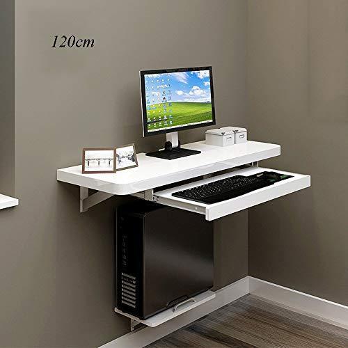 YZZG Gaming Desk für Heim und Büro, an der Wand befestigter Tisch Computer-PC-Laptop-Schreibtisch für Home Office-Kinder, Kinder, Weiß, Schreibtisch, Home-Office,120CM