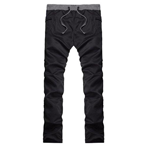 ❤️Pantalons Homme, Amlaiworld Hommes Survêtement Jogger Pantalon Sport Running Survêtement Pantalons Taille Plus (M, Noir)