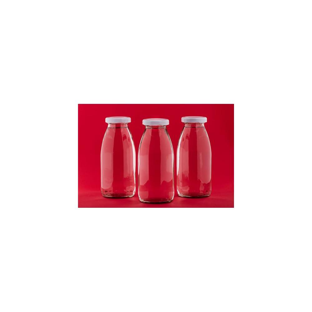 20 Leere Glasflaschen 200 Ml Kleine Saftflaschen Weithals Flaschen Einmachglas Essig L Flasche Likrflaschen Schnapsflaschen Essigflaschen Lflaschen Milchflaschen Smoothie 02 Liter L Deckelfarbe Weiss