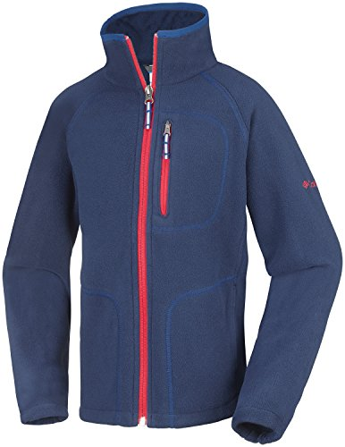 Columbia Kinder Fast Trek II Full Zip, Collegiate Navy/Marine Blue, S, WY6779 (Junge Kleiner Full Fleece Zip)