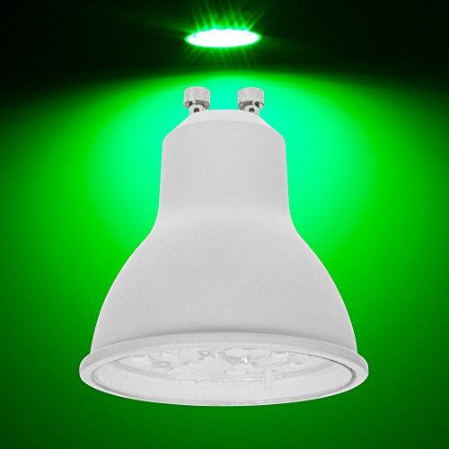 Pro-Lite 7W GU10Ampoule à LED Couleur Verte Twist et Lock non dimmable