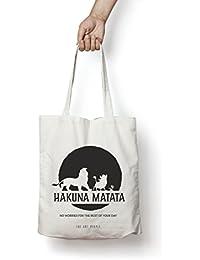 Hakuna Matata Tote Bag| Canvas| Fashion| Eco Friendly| Shoulder Bag| For Gym Beach Shopping College| The Art People|
