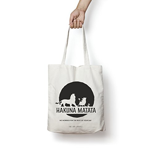 Hakuna Matata Tote Bag| Canvas| Fashion| Eco Friendly| Shoulder Bag| For Gym Beach Shopping College| The Art People|