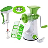 KE Mega Combo Of Heavy Manual Juicer + Power Free Blender + 6 In 1 Slicer + Apple Cutter