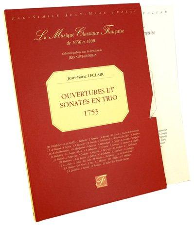 Ouvertures et sonates en trio pour deux violons avec la basse continue
