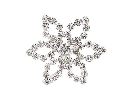 Syntego 5X Grande Fleur Diamante Ornements avec 49Grade A Strass (Em9)