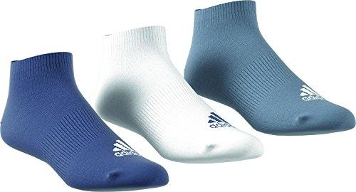 adidas Performance Thin No-Show (3 Pairs Pack) Socken, Noble Indigo s18/White/Raw Steel s18, 4346 (Pack 3-pair White)